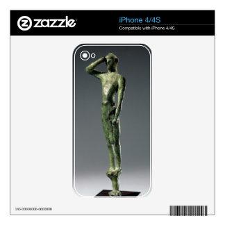 Man at prayer, Archaic Greek bronze sculpture some Decals For iPhone 4S