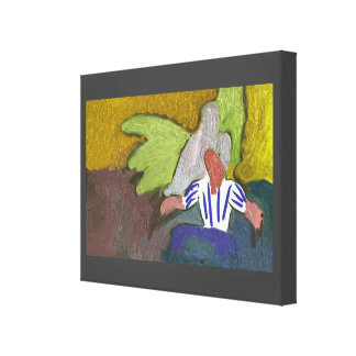 """""""man at the bar"""" Premium Wrapped Canvas (Gloss)"""