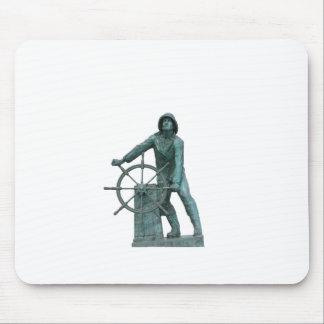 Man at the Wheel Logo Mouse Pad