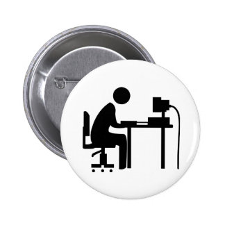 Man at Work Buttons