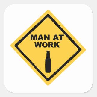 Man at Work Square Sticker