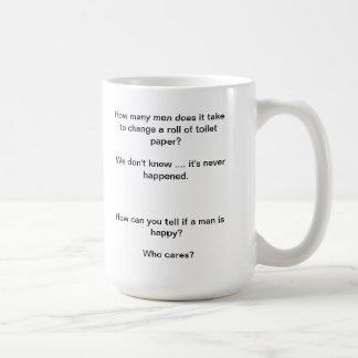 man bashing mug