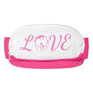 Man Be Quiet Pink Visor LOVE in hot pink – Women's
