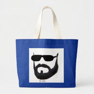 Man Beard Jumbo Tote by: da'vy Tote Bags