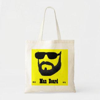 Man Beard Ladies Budget Tote by: da'vy Tote Bag