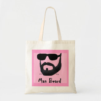 Man Beard Ladies Budget Tote by: da'vy Tote Bags
