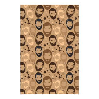 MAN BEARD pattern repeating Stationery