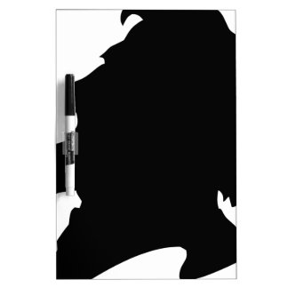 man bearded dry erase board
