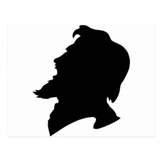 man bearded postcard