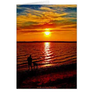 Man&Beast@Sunset Card