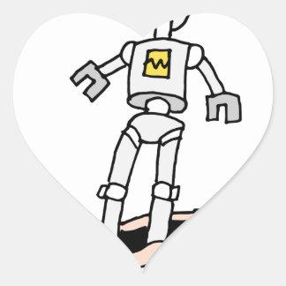 Man becomes robot heart sticker