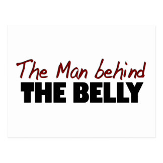 Man Behind The Belly Postcard