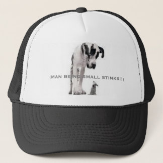 (MAN BEING SMALL STINKS!!) TRUCKER HAT