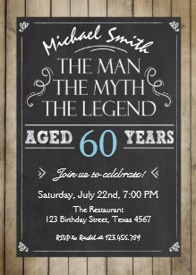 60 off mens birthday invitations shop now to save zazzle man birthday invitation chalkboard rustic adult filmwisefo