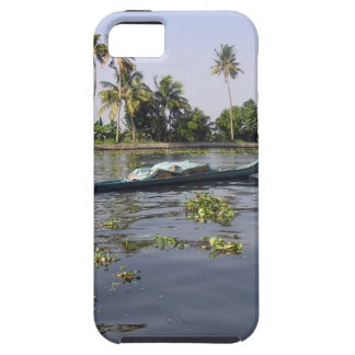 Man boating on the salt water lagoon in Alleppey iPhone 5 Covers