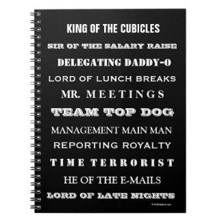 Man Boss Funny Job Titles and Joke Names Notebook
