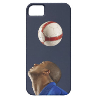 Man bouncing soccer ball on his head 2 iPhone 5 covers