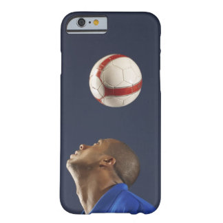Man bouncing soccer ball on his head 2 barely there iPhone 6 case
