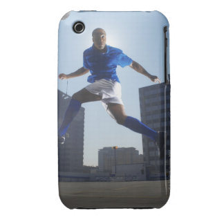 Man bouncing soccer ball on his head Case-Mate iPhone 3 cases