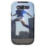 Man bouncing soccer ball on his head galaxy SIII cover