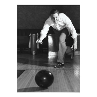 Man Bowling Card