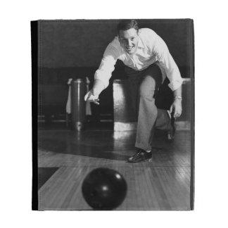 Man Bowling iPad Case
