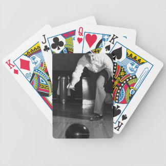 Man Bowling Deck Of Cards