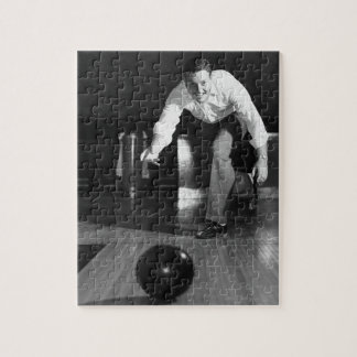 Man Bowling Jigsaw Puzzles