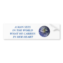 Man Bumper Sticker