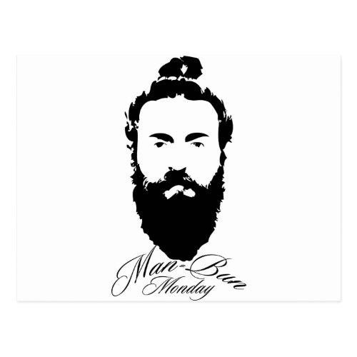 Man Bun Monday Postcard
