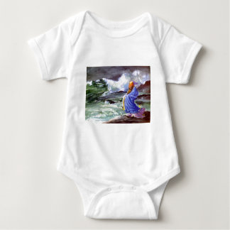 Man by the Stormy Sea Painting Baby Bodysuit