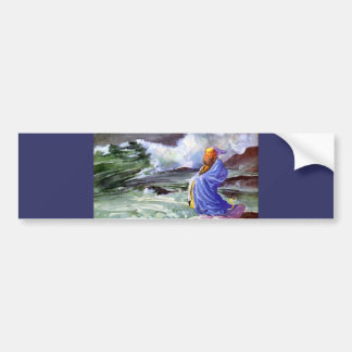 Man by the Stormy Sea Painting Bumper Sticker