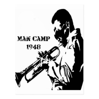 Man Camp 1948 Postcard