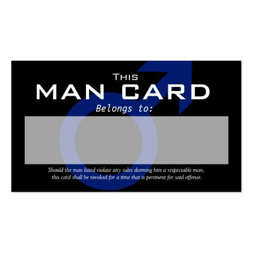 man card double sided standard business cards pack of 100