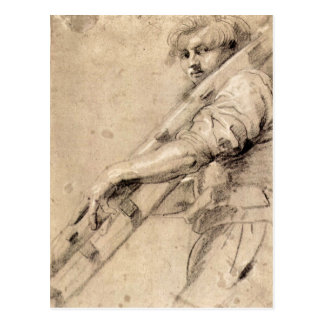Man carrying a ladder by Paul Rubens Postcards