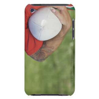 Man carrying rugby ball barely there iPod cover