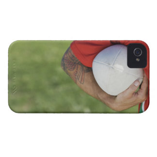Man carrying rugby ball iPhone 4 cover