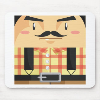 Man Cartoon 2 Mouse Pad