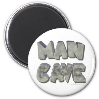 Man Cave 3D Stone Look Letters for Father or Him 2 Inch Round Magnet