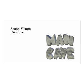 Man Cave 3D Stone Look Letters for Father or Him Business Cards
