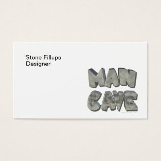 Man Cave 3D Stone Look Letters for Father or Him Business Card