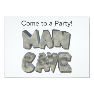 Man Cave 3D Stone Look Letters for Father or Him Card