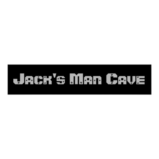 Man Cave Banner Posters