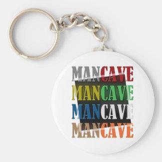 Man Cave Basic Round Button Keychain