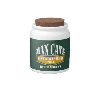 Man Cave Beer Money Jar Candy Jar