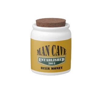 Man Cave Beer Money Jar Candy Dish