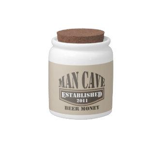 Man Cave Beer Money Jar Candy Jars