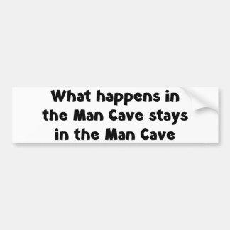 Man Cave Bumper Sticker