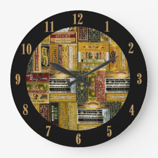 Man Cave Cigar Boxes Pattern Wall Clock