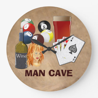 Man Cave Clock large